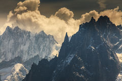 Mountain  scenery in the french Alps in summer Royalty Free Stock Photo