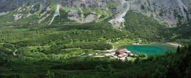 Chata pri Zelenom plese & Zelene pleso, Vysoke Tatry, Slovakia royalty free stock image