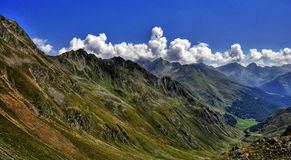 Mountain scenery. The mountain scenery of the Grossglockner glacier royalty free stock image