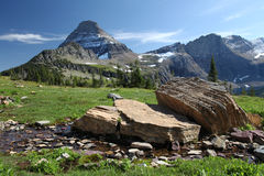 Mountain Scenery Hidden Lake Trail, Glacier N P Stock Images
