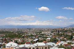 Mountain scenery, hills in Armenia near the temple of Garni royalty free stock photo