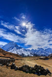Mountain scenery in Himalaya, Nepal Royalty Free Stock Photos