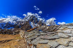 Mountain scenery in Himalaya, Nepal Stock Image