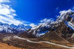 Mountain scenery in Himalaya, Nepal Stock Photos