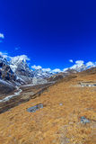 Mountain scenery in Himalaya, Nepal Royalty Free Stock Photography