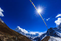 Mountain scenery in Himalaya, Nepal Stock Images