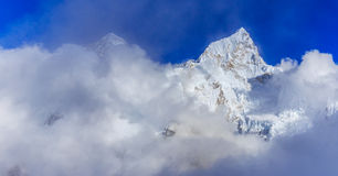 Mountain scenery in Himalaya, Nepal Royalty Free Stock Images