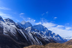 Mountain scenery in Himalaya with snow covered peaks Royalty Free Stock Photography