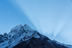 Mountain scenery in Himalaya Royalty Free Stock Photos