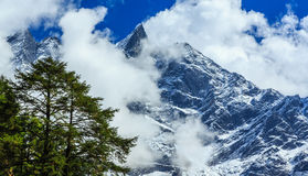 Mountain scenery in the Himalayas Royalty Free Stock Image