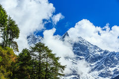 Mountain scenery in the Himalayas Stock Images