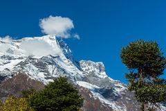 Mountain scenery in the Himalayas Royalty Free Stock Photo