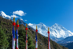 Mountain scenery in the Himalayas Royalty Free Stock Photos