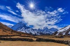 Mountain Scenery In Himalaya, Nepal Stock Photo