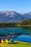 Mountain scenery in Jasper national park Stock Photography