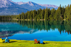Mountain scenery in Jasper national park Royalty Free Stock Photos