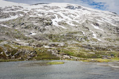 Mountain scenery in Jotunheimen National Park in Norway Royalty Free Stock Image