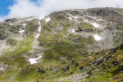 Mountain scenery in Jotunheimen National Park in Norway Royalty Free Stock Photography