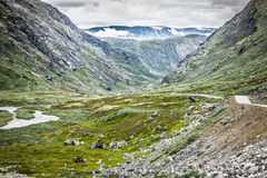 Mountain scenery in Jotunheimen National Park in Norway Stock Images