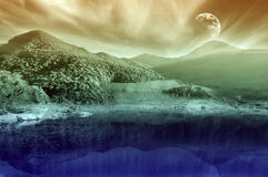Mountain scenery landscape Stock Images