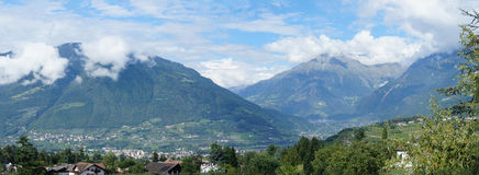Mountain scenery in the Meran Country, Italy Stock Photo