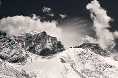 Mountain scenery on the Mount Everest Base Camp, Himalaya, Nepal Stock Photo