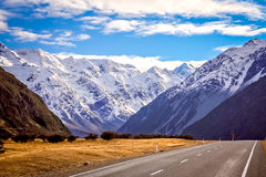 Mountain Scenery of New Zealand South Island Royalty Free Stock Images