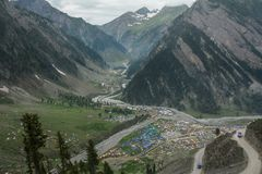 Mountain scenery of Northern India stock photography
