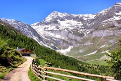 Mountain scenery in the Oetztal Alps Royalty Free Stock Image