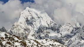 Mountain scenery in Sagarmatha National Park, Nepal stock video