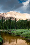 Mountain scenery with small pond in Banff national park Stock Image