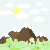 Mountain scenery Stock Photography