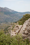 Mountain scenery. On a sunny summer day in Mallorca, Balearic islands, Spain Royalty Free Stock Photography
