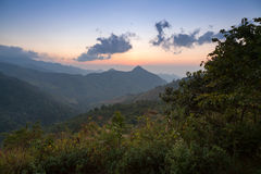 Mountain scenery sunset in Nan,Thailand Royalty Free Stock Photos