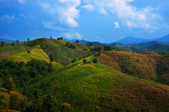 Mountain scenery in Thailand, Asia Royalty Free Stock Image