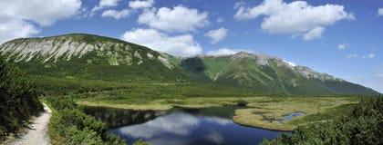Trojrohe pleso, Dolina Bielych plies, Vysoke Tatry, Slovakia royalty free stock photos
