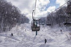 Mountain scenery in Vigla, Florina's ski center, Greece Royalty Free Stock Images