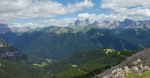 Mountain scenes from the Catinaccio area, Dolomites Stock Images