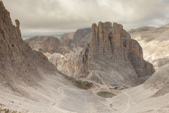 Mountain scenes from the Catinaccio area, Dolomites Stock Photo