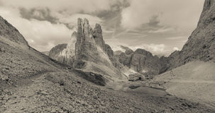 Mountain scenes from the Catinaccio area, Dolomites Royalty Free Stock Photos