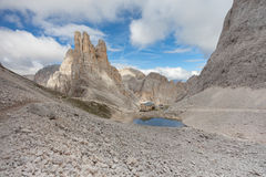Mountain scenes from the Catinaccio area, Dolomites Stock Image