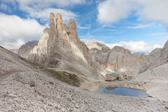 Mountain scenes from the Catinaccio area, Dolomites Stock Photos