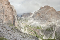 Mountain scenes from the Catinaccio area, Dolomites Royalty Free Stock Photography