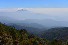 Mountain scenes. This is a photo of a scene of mountain in northern thailand Stock Images