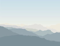 Mountain scenic. A mountain scenic. Easy use, change color Royalty Free Stock Photos