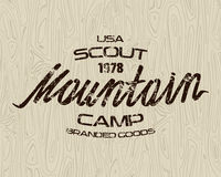 Mountain scout emblems  for t-shirt Stock Images