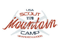 Mountain scout emblems  for t-shirt Royalty Free Stock Photos