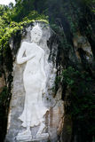Mountain Sculpture of Buddha Royalty Free Stock Images