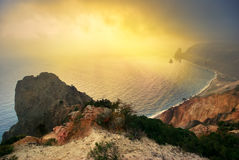 Mountain and sea Royalty Free Stock Images