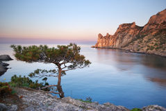 Mountain and sea. Royalty Free Stock Photo
